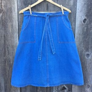 Vintage 60's Denim Wraparound Skirt